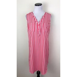 NWT New York & Company Striped Sleeveless Dress